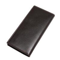 钱包男长款学生钱夹男士韩版潮钱包商务休闲钱夹 黑色