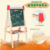 儿童双面磁性白板画板写字板宝宝涂鸦板可升降小黑板支架式