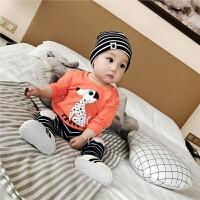 婴儿秋款上衣男女宝宝0-3岁2新生儿幼儿韩版纯棉印花长袖 T恤