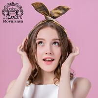 皇家莎莎网红少女发箍韩国头饰可爱甜美头箍洗脸发带个性头巾森女
