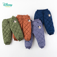 迪士尼Disney童装 男童三层保暖棉裤冬季新品儿童韩版休闲裤菱格长裤 194K871