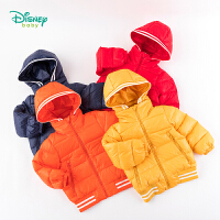 【2件3折到手价:160】迪士尼Disney童装 男童可拆卸帽羽绒服冬季新款米奇印花亮色外套194S1146