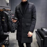 轻薄羽绒服男冬季新款青年大码西服韩版修身外套潮流西装羽绒衣男