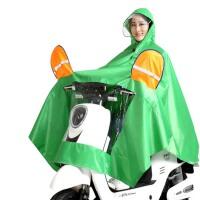双帽檐雨衣 大厚男女式摩托车雨衣 电动车雨衣双面罩雨披