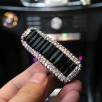 镶钻汽车眼镜夹车载眼镜盒架车用多功能遮阳板票据名片卡片夹女士
