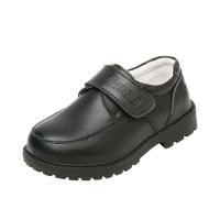 男童皮鞋黑色英伦风学生中大童新款2018真皮黑透气小童男孩演出鞋