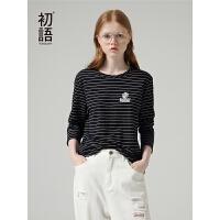 初�Z年春季新款大力水手IP系列卡通刺�C�l�y�A�I�L袖T恤女