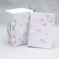 樱花萌猫的日常B6胶套本彩色本子笔记本子记事本学生用日记本