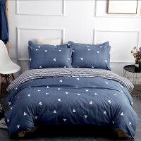 水洗棉床上用品床单被套四件套学生宿舍1.2米床三件套1.8m/1.5床 1.2m (4英尺) 三件套