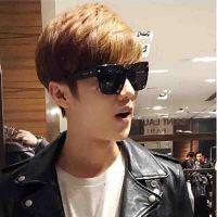 2018年新款李易峰鹿晗同款太阳眼镜韩版男女通用大框圆脸欧美潮流个性墨镜