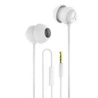 睡眠耳机小巧柔软硅胶入耳式耳塞式立体声不压耳侧睡降噪手机苹果耳机带线控麦克风可语音通话聊天M5 官方标配