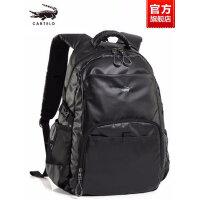 鳄鱼男士双肩包商务旅游旅行包简约时尚潮流背包休闲电脑帆布书包