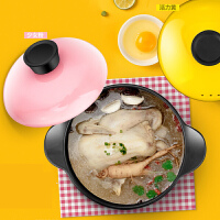养生炖汤煲陶瓷小沙锅迷你煲汤锅炖锅明火燃气家用陶土砂锅耐高温 iq9