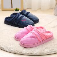 棉拖鞋女包冬季家居家用保暖室内防滑毛毛皮拖鞋