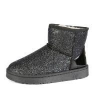 冬季新款短筒雪地靴女百搭短靴子韩版平底中筒加绒棉鞋秋