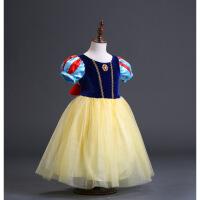 白雪公主裙子女童连衣蓬蓬裙洋气礼服灰姑娘表演服万圣节儿童服装 白雪公主6件套