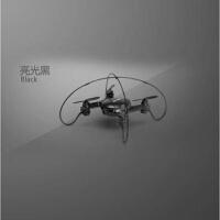 迷你四轴无人机 高清航拍气压定高实时飞行器耐摔四旋翼航模 黑色-实时航拍 320W像素