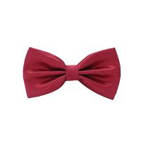 男士西装领结英伦韩版蝴蝶结领结男士伴郎新郎酒红色花纹领结