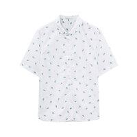 【618返场购,每满200减100】美特斯邦威官方旗舰店短袖衬衫女士夏装新款休闲潘领直筒衬衣服