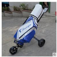 户外高尔夫球手拉车可折叠球包车 高尔夫球包车 三轮车手推车