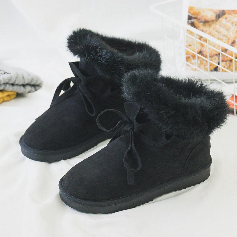 雪地靴女冬2018新款韩版百搭棉鞋短筒靴学生加厚加绒保暖防滑短靴