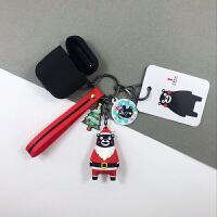 圣诞节熊本熊可爱耳机套挂件airPods保护套耳机苹果硅胶圣诞礼物