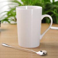 简约陶瓷杯子喝水杯茶杯白色马克杯定制LOGO早餐办公室牛奶咖啡杯