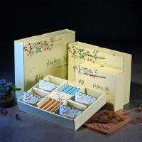 白领公社 餐具套装 简约韩式陶瓷碗筷礼盒装套装 家用日式便携创意筷子饭碗具 结婚礼品四件套