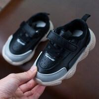 加绒新款男童鞋子儿童运动鞋皮面休闲女童加绒保暖宝宝鞋秋冬季