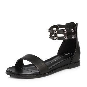 Tata/他她2018夏专柜同款牛皮铆钉休闲罗马鞋女凉鞋FER03BL8