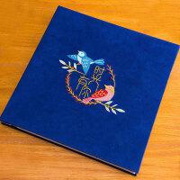 刺绣DIY手工纪念相册照片定制礼物制作粘贴式浪漫情侣创意影集本