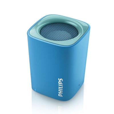 Philips/飞利浦 无线蓝牙音箱便携迷你手机电脑小音响低音炮BT100 蓝色