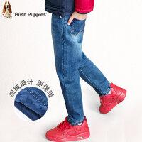 【3件3折:140.7元】暇步士童装新款冬装男童牛仔裤中大童双层长裤儿童加厚裤子