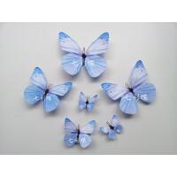 仿真蝴蝶橱窗装饰立体蝴蝶婚庆摄影蝴蝶背景墙冰箱贴13CM 中