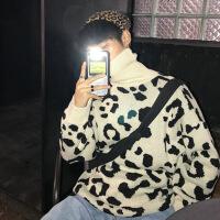 新年优惠【NEW】网红毛衣套头潮牌冬季韩版潮流ins超火个性帅气百搭高领针织衫
