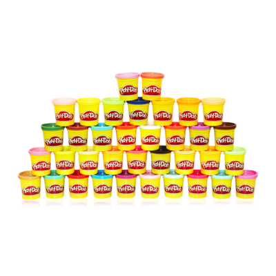 孩之宝培乐多基础彩泥36罐无毒益智 儿童橡皮泥手工泥黏土玩具