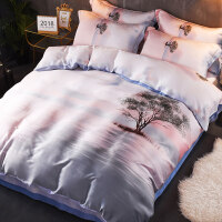 60支天丝四件套夏季冰丝床单床笠被套夏凉裸睡床上用品1.8m米双人上新