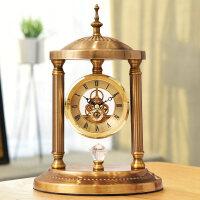 欧式复古座钟摆钟桌面摆台式钟表客厅大号古钟摆件美式奢华时钟
