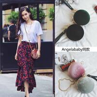 angelababy明星同款包包2017新款小圆包韩版个性百搭时尚斜挎女包