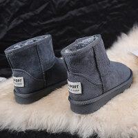 雪地靴女冬季韩版百搭加绒中筒学生绒面保暖防滑女款棉鞋