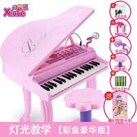 儿童电子琴钢琴带麦克风3-6岁礼物女孩音乐玩具宝宝钢琴
