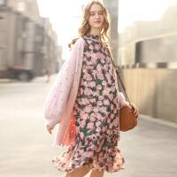 孕妇装秋装2017潮妈两件套孕妇春装套装2018新款连衣裙韩版