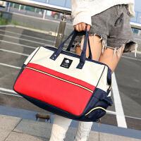 韩版防水行李包女手提旅行包大容量可套拉杆轻便短途旅行袋行李包