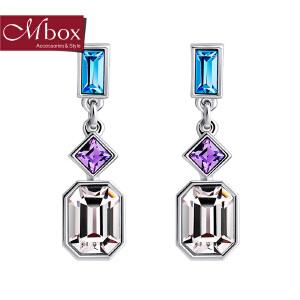 新年礼物Mbox耳钉 气质女韩国版采用施华洛世奇元素水晶耳钉耳环 绮丽的梦