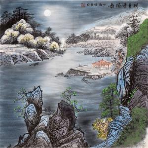 张泉踪《明月清风图》