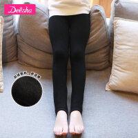 【3折价:59】笛莎童袜女童袜子新款金丝绒加绒无缝一体踩脚保暖打底裤袜