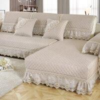 四季防滑布艺沙发垫四季通用亚麻沙发垫子简约现代沙发套罩全包