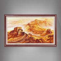 中式装饰画客厅办公室书房油画纯手绘山水风景 万里 连框150*260 昌巨全手绘油画