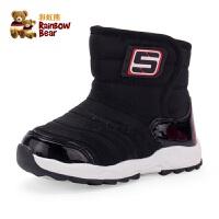 儿童雪地靴1-3岁小童男童防滑棉靴秋冬季保暖女童短靴加绒宝宝鞋
