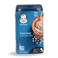 美国嘉宝GERBER 2段燕麦米粉宝宝米粉婴幼儿辅食米糊 454g 6个月+